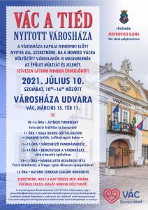 Vác a tiéd! – szombaton ismét nyitott Városháza