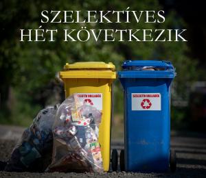 A szelektív hulladék begyűjtése következik